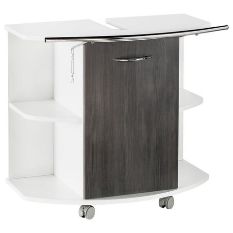 KESPER kast Trent op rollers grijze badkamer wastafelonderkast 66