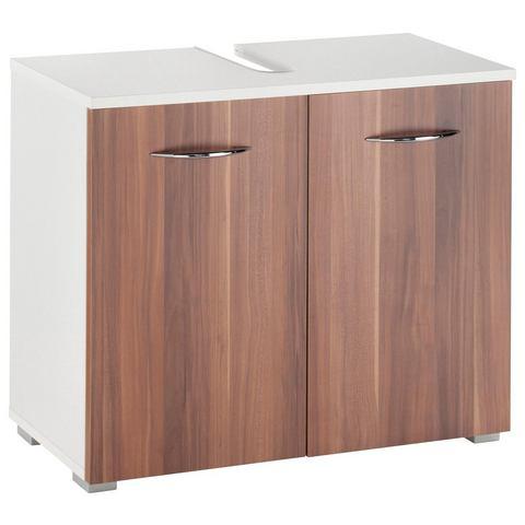 KESPER kast Trent met 2 deuren bruine badkamer wastafelonderkast 73