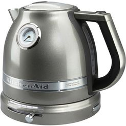 kitchenaid waterkoker 5kek1522ems, 1,5 l zilver