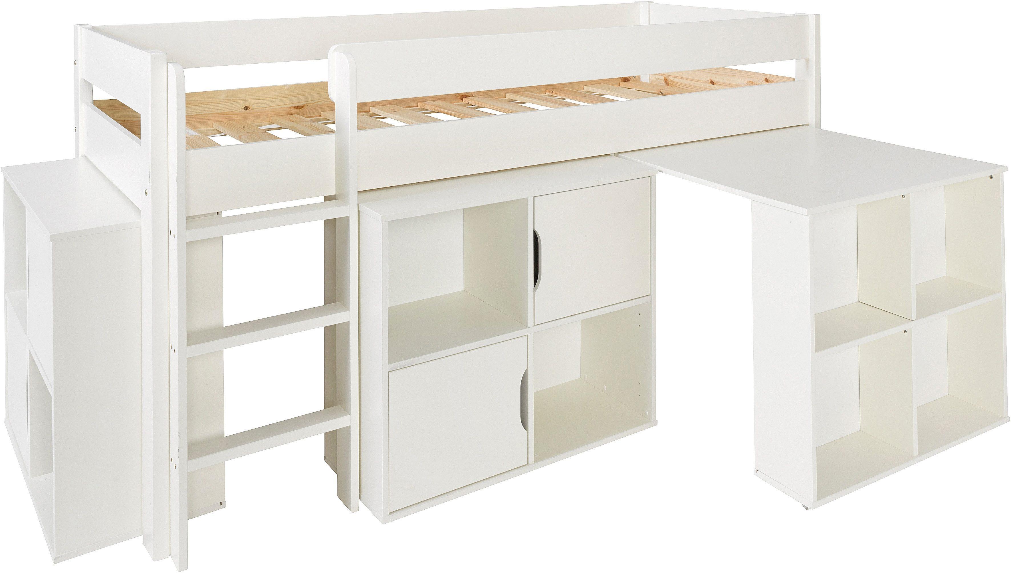 Steigerhouten bureau met kast meubelen van steigerhout