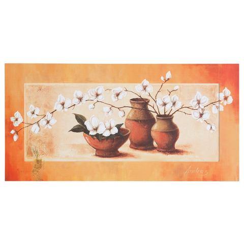 Artprint, Home Affaire, 'S., A.: witte kersenbloesem in rode vazen II'