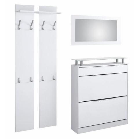Complete garderobes Halmeubelset Astor 3-delig 843947