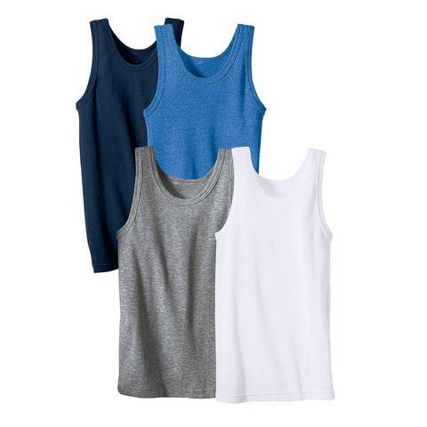 Fijngeribd hemd, set van 4
