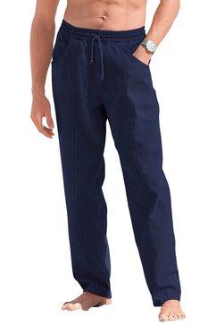 comfortbroek met achterzak blauw
