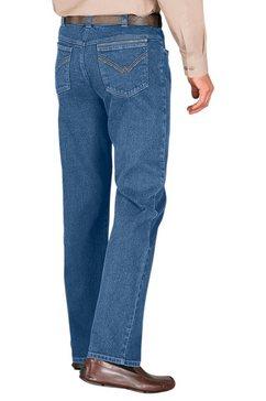 classic jeans met comfortabele elastische band blauw