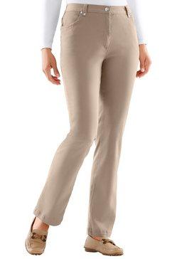 jeans met glinstersteentjes beige
