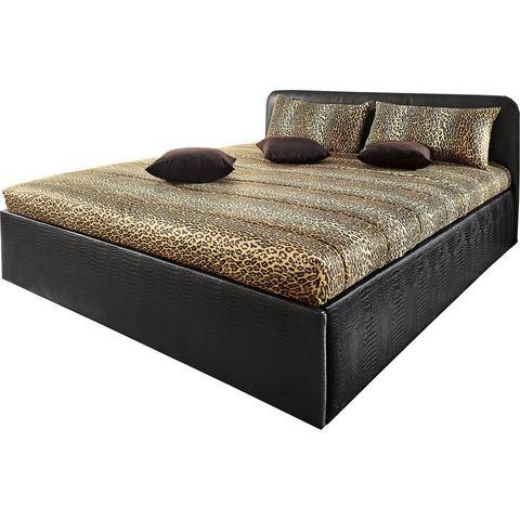Bed bekleed met imitatieleer 7 zones koudschuimmatras H3 zwart Westfalia Polsterbetten 460031