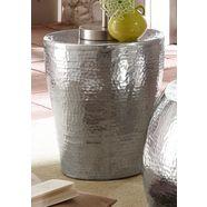 bijzettafeltje van glanzend aluminium zilver