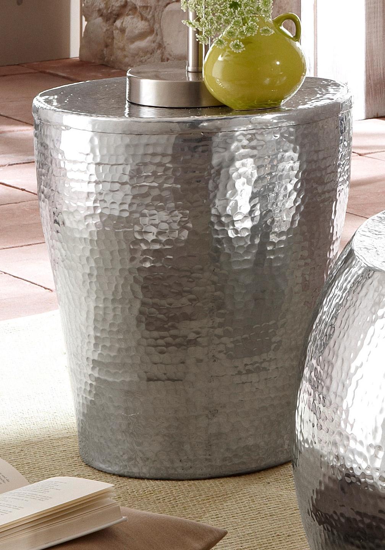 Zilver Bijzet Tafeltje.Bijzettafeltje Van Glanzend Aluminium