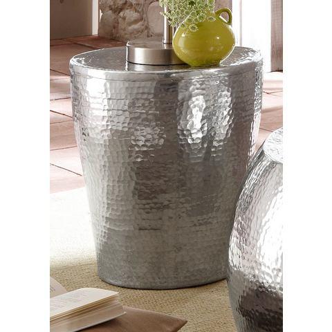 Bijzettafeltje van glanzend aluminium