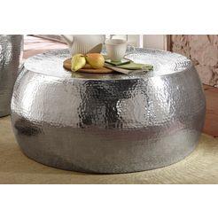 salontafel van glanzend aluminium zilver