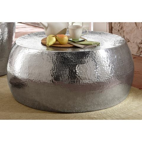 Salontafel van glanzend aluminium