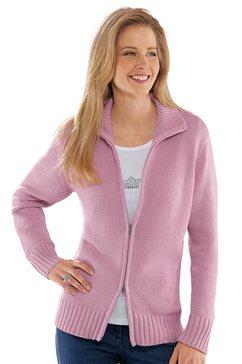 casual looks vest in comfortabele materialenmix roze