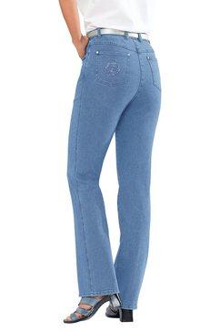 casual looks jeans in rechte belijning blauw