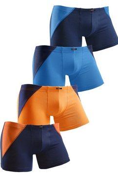 h.i.s boxershort met logo in set van 4 multicolor