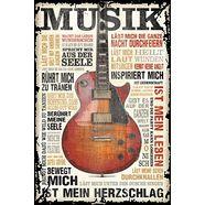home affaire artprint »musik ist leidenschaft«, 60x90 cm bruin