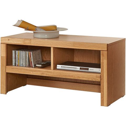 Lowboard van 90 cm breed gedeeltelijk massief beukenkernhout TV-kast 291