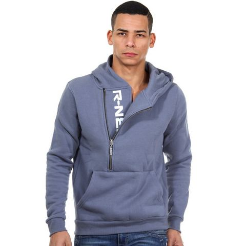 R-NEAL sweatshirt met capuchon en ritssluiting regular fit