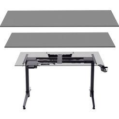 mca furniture tafelelement frame zwart