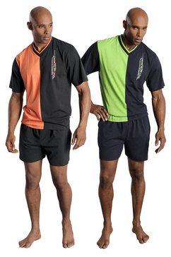 le jogger pyjama in kort model multicolor