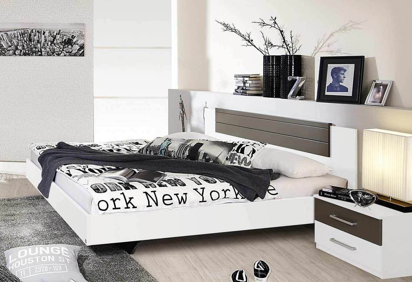 RAUCH Bed in zwevende look als 3-delige set