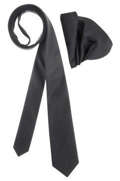 bruno banani stropdas (set, met pochet) zwart