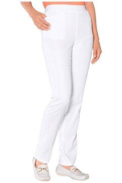 classic basics broek met hoog draagcomfort wit