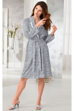 saraboni ochtendjas met sjaalkraag wit