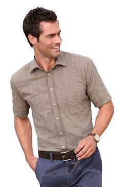 overhemd in seersucker-kwaliteit bruin