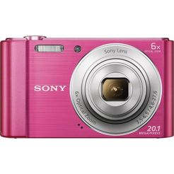 sony cyber-shot dsc-w810 compakt camera, 20,1 megapixel, 6x opt. zoom, 6,8 cm (2,7 inch) display roze