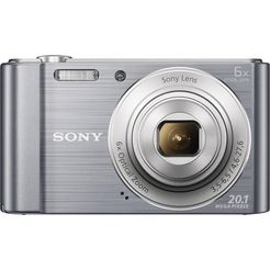 sony cyber-shot dsc-w810 compakt camera, 20,1 megapixel, 6x opt. zoom, 6,8 cm (2,7 inch) display zilver
