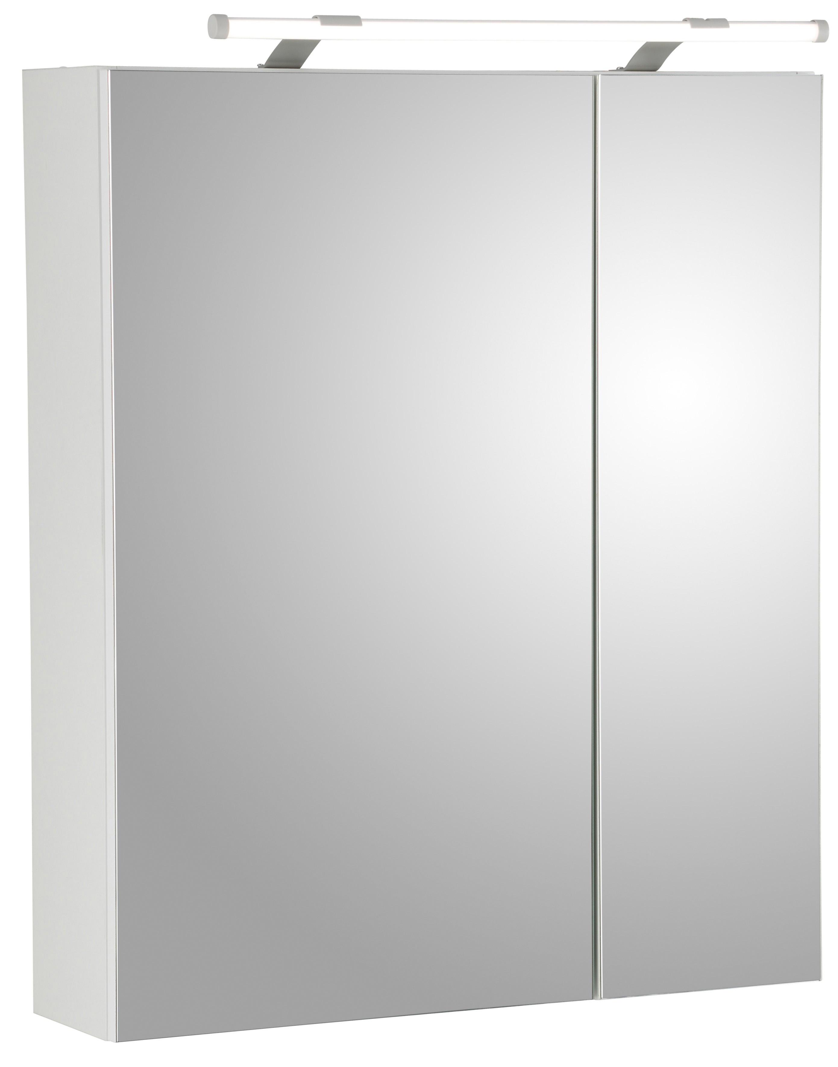 Schildmeyer spiegelkast Dorina Breedte 60 cm, 2-deurs, ledverlichting, schakelaar-/stekkerdoos, glasplateaus, Made in Germany - verschillende betaalmethodes