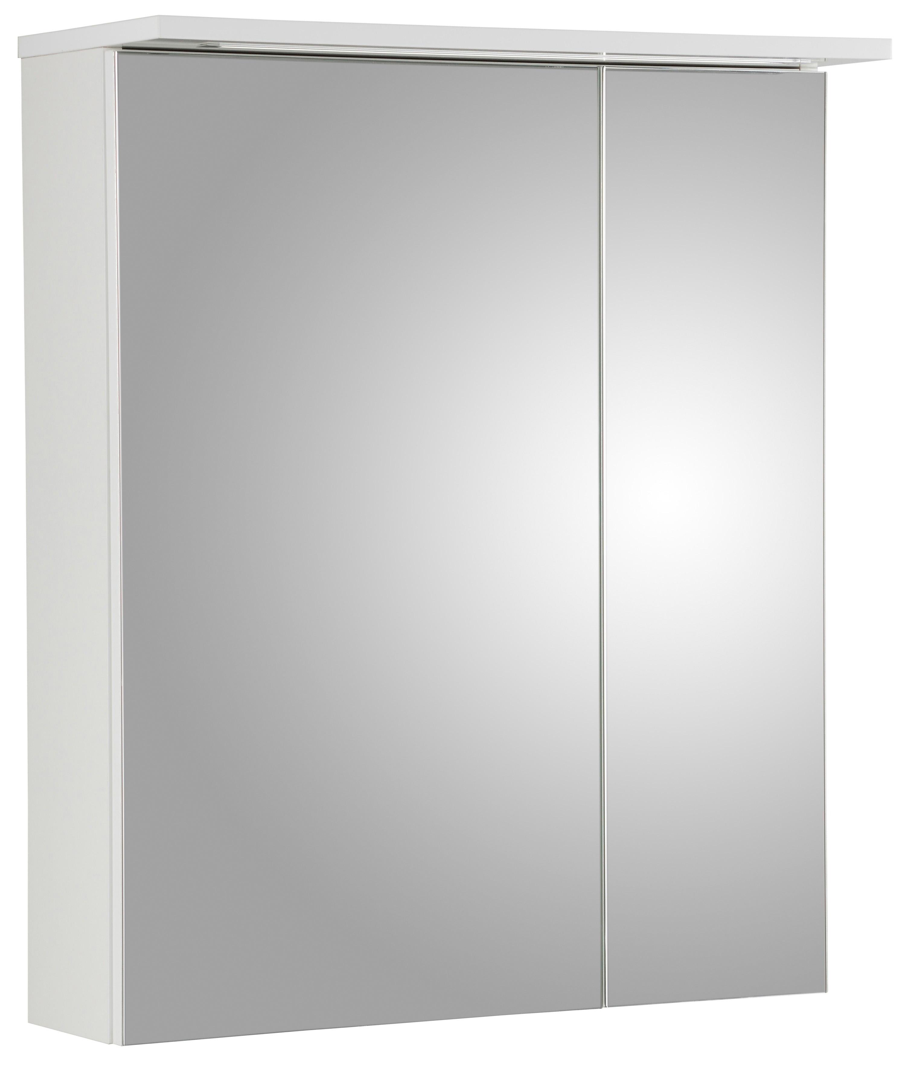 Schildmeyer Spiegelkast Profiel 16 Breedte 60 cm, 2-deurs, verzonken ledverlichting, schakelaar-/stekkerdoos, glasplateaus, Made in Germany - verschillende betaalmethodes