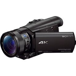sony fdr-ax100 4k (ultra-hd)-1080p (full hd)-720p (hd-ready) camcorder, wlan, nfc zwart
