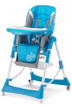 chic 4 baby kinderstoel met verstelbare zitpositie blauw