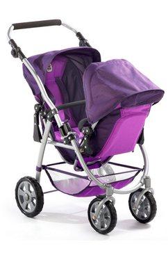 chic 2000 tandem-buggy voor poppen vario paars paars