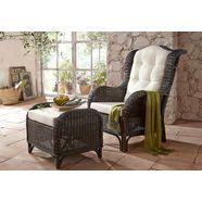 fauteuil en hocker in nostalgische stijl bruin