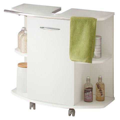 KESPER kast Trent op rollers witte badkamer wastafelonderkast 39
