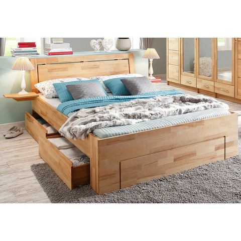 Bed ligoppervlakteak 180x200 cm beige Home Affaire 851568