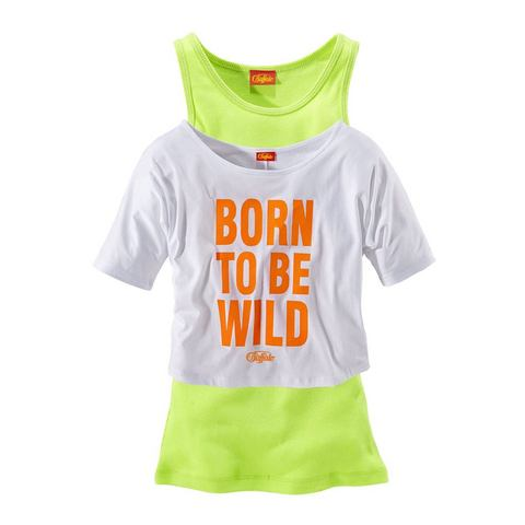 BUFFALO T-shirt & top in 2-dlg. set voor meisjes