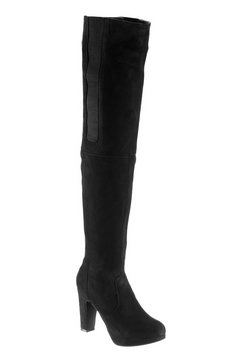 Overknee-laarzen in suède-look