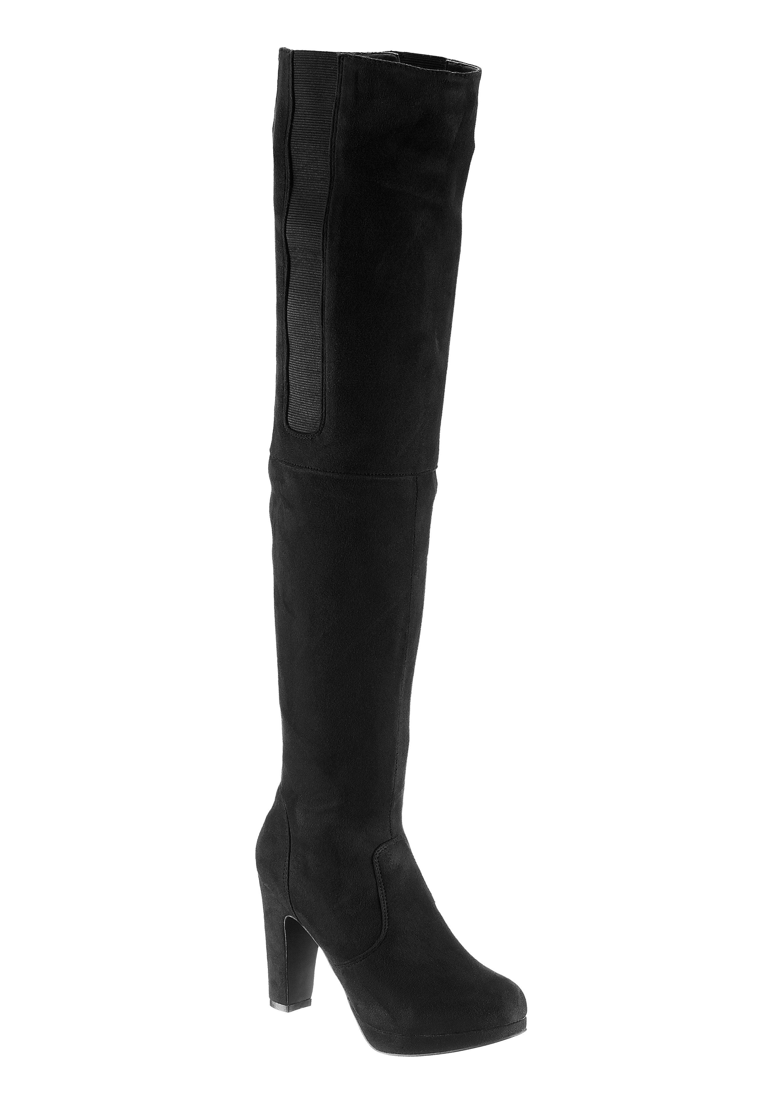 City Walk Overknee-laarzen in suède-look voordelig en veilig online kopen