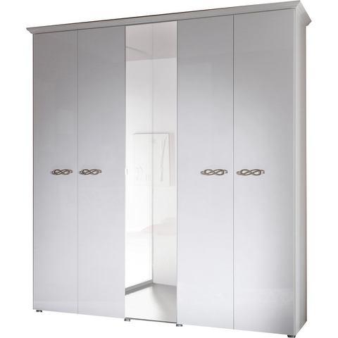 Kledingkasten Garderobekast met zilverkleurige grepen van metaal 751741