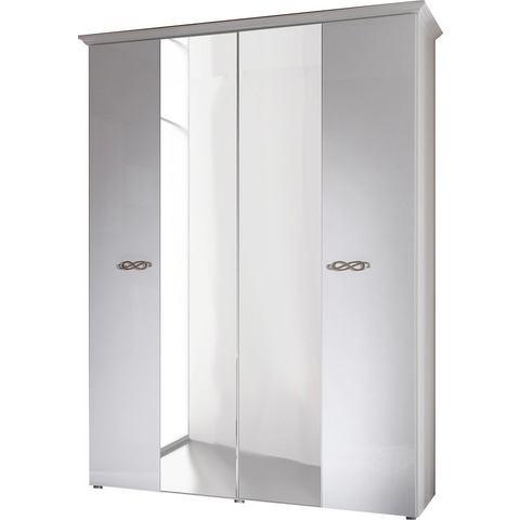 Kledingkasten Garderobekast met zilverkleurige grepen van metaal 542305
