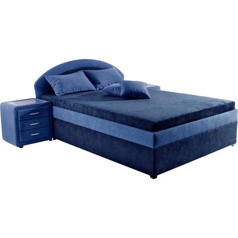 Bed Maintal Made in Germany vast binnenveringsinterieur H2 blauw Maintal 248100