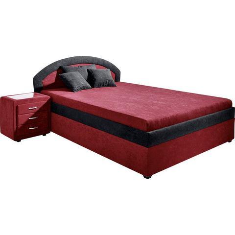 Bed Maintal Made in Germany vast binnenveringsinterieur H3 rood Maintal 885885