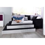 maintal bed in 3 breedten en 2 stofkwaliteiten grijs