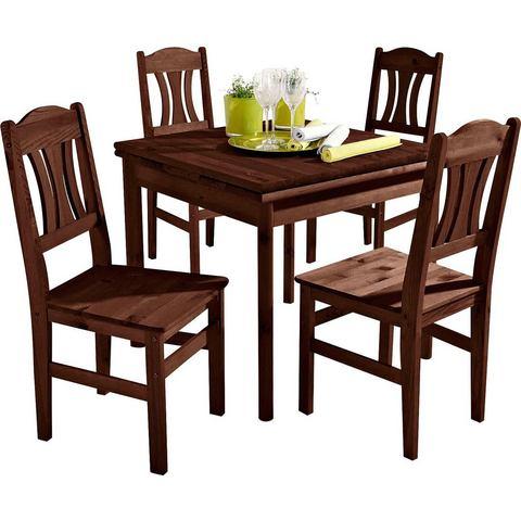 Eettafels Massief houten eettafel 731746