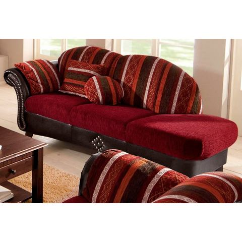 woonkamer chaise longues rood Recamier armleuning links Imitatieleer structuurstof