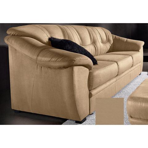 woonkamer driepersoons bankstel bruin NatuurLEER SIT en MORE in 4 bekledingskwaliteiten